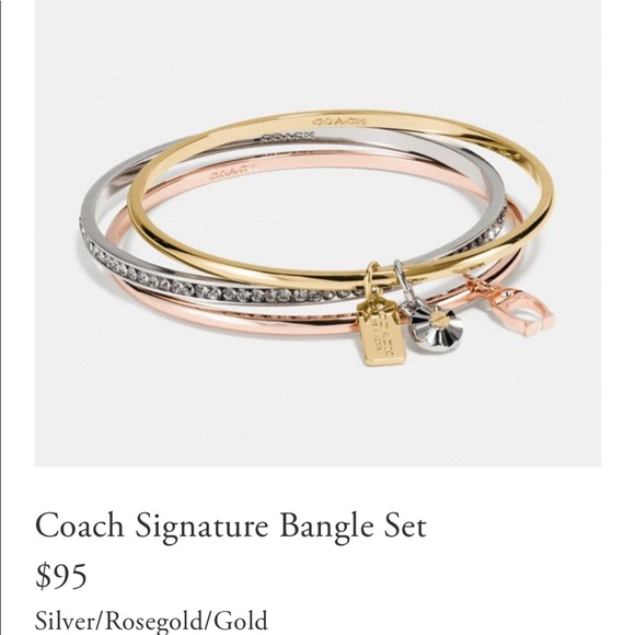 ef2ad66cf Coach Jewelry | Bangles Set Of 3 With Charms | Poshmark
